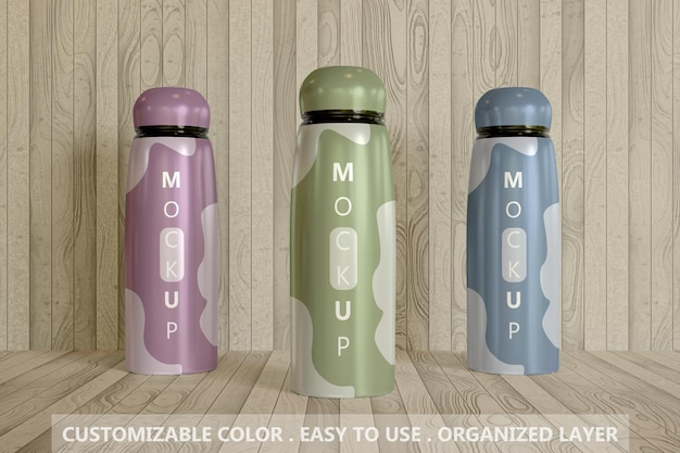 Close up múltiplo tumbler mockup premium psd