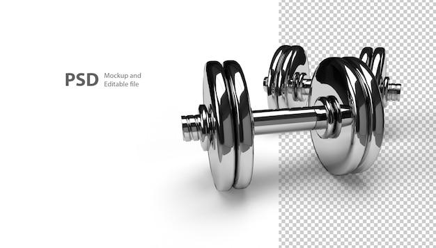 Close-up na barra isolada na renderização 3d