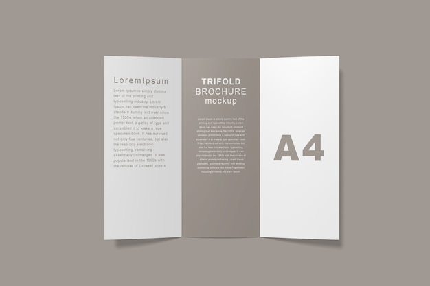 Close-up na brochura trifold mockup isolated