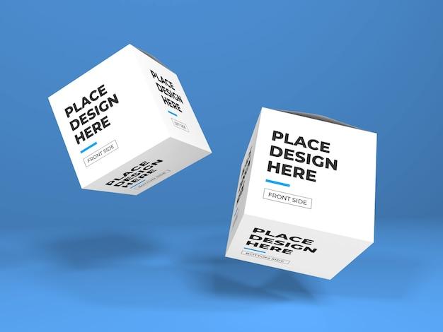 Close-up na caixa de embalagem maquete isolada Psd Premium