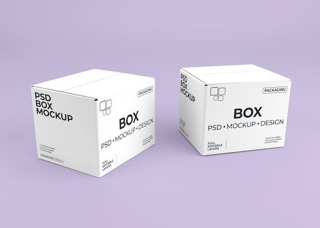 Close-up na caixa de maquete para embalagem