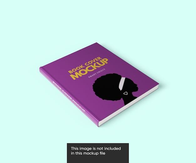 Close-up na capa do livro maquete isolada