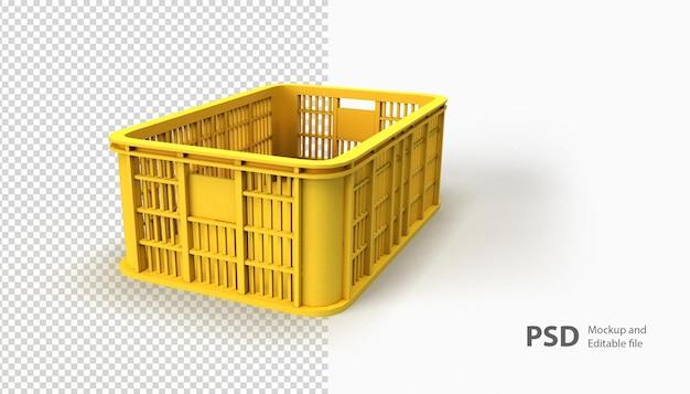 Close-up na cesta isolada na renderização 3d