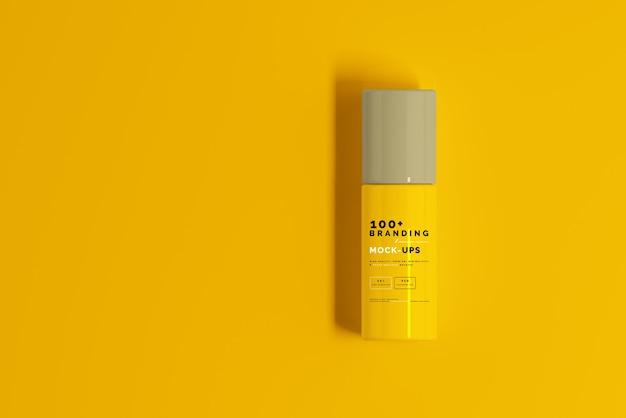 Close-up na embalagem de maquete de frasco cosmético