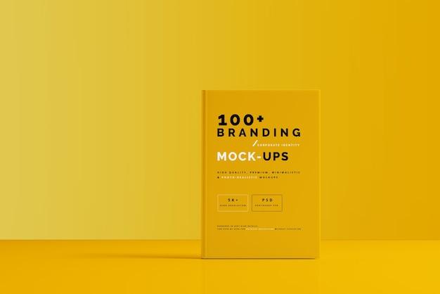 Close-up na embalagem do modelo de capa de livro