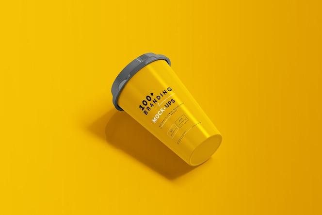 Close-up na embalagem do modelo de xícara de café