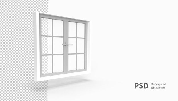 Close-up na janela isolada