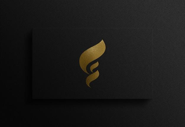Close-up na maquete 3d do logotipo