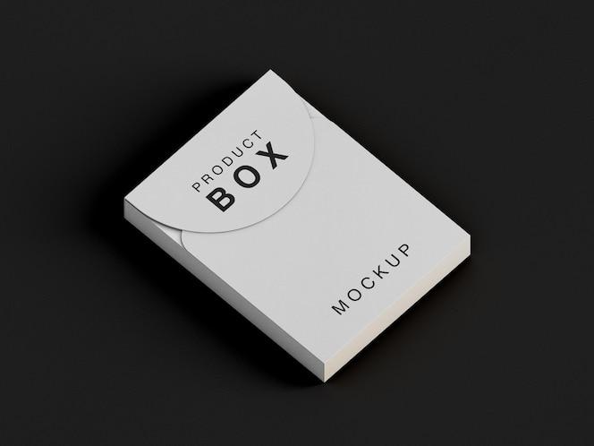 Close-up na maquete da caixa do produto isolada