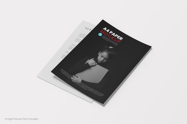 Close-up na maquete da capa do livro isolada