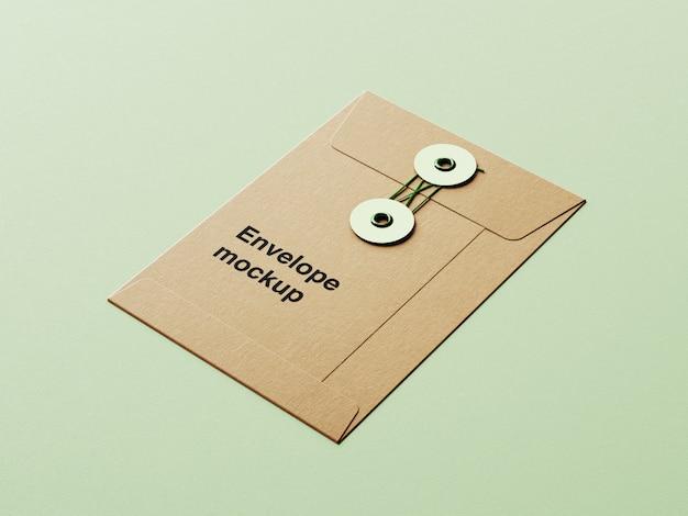 Close-up na maquete de envelope de papel