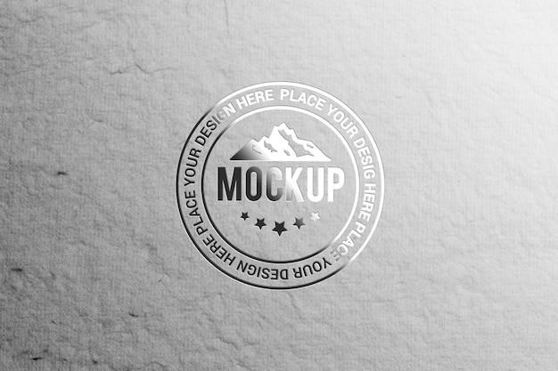 Close-up na maquete de logotipo de estilo realista
