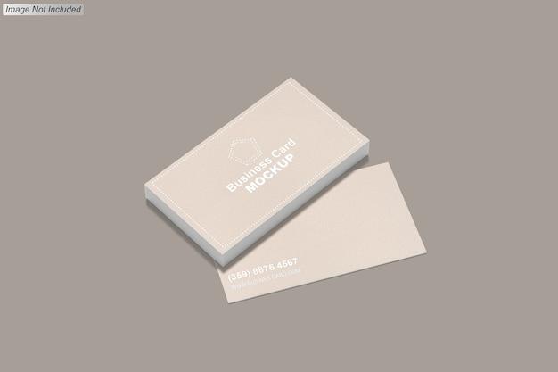 Close-up na maquete do cartão de visita isolada