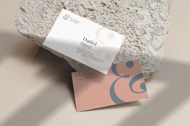 Close-up na maquete do cartão de visita