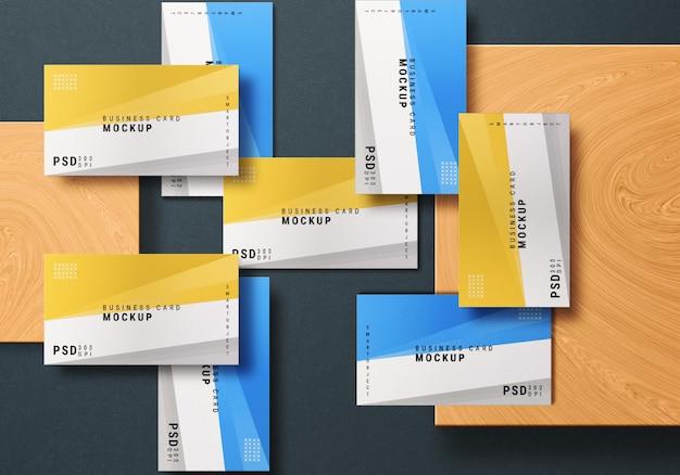 Close-up na maquete do conjunto de cartão de visita