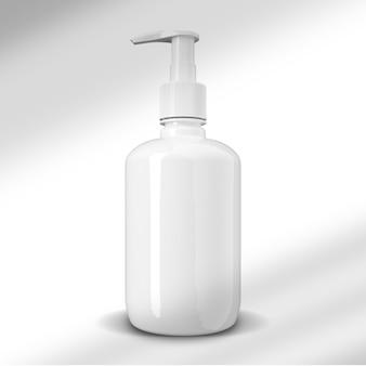 Close-up na maquete do frasco de shampoo