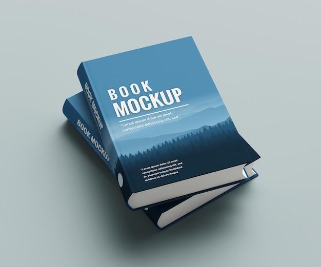 Close-up na maquete do livro isolada