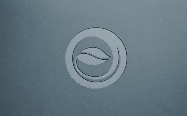 Close-up na maquete do logotipo de luxo