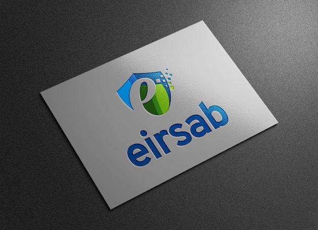Close-up na maquete do logotipo realista moderno