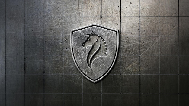 Close-up na maquete do logotipo