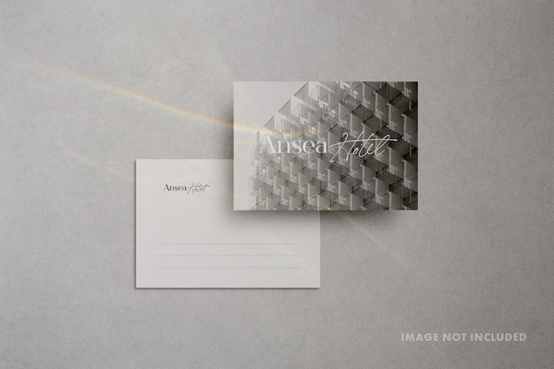 Close-up na maquete minimalista de papel de carta