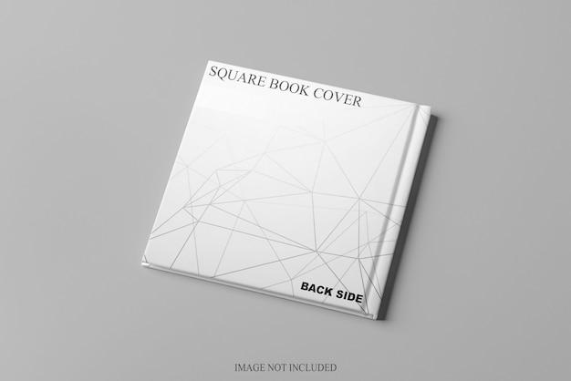 Close-up na square book back mockup isolated