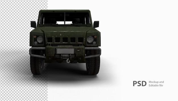 Close-up no carro em renderização 3d isolado