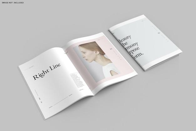 Close-up no catálogo de brochuras bifold