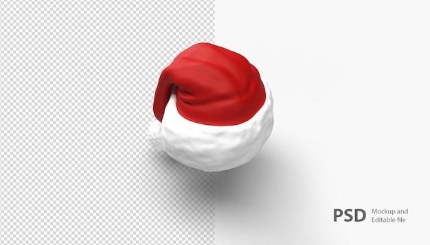 Close-up no chapéu de natal isolado