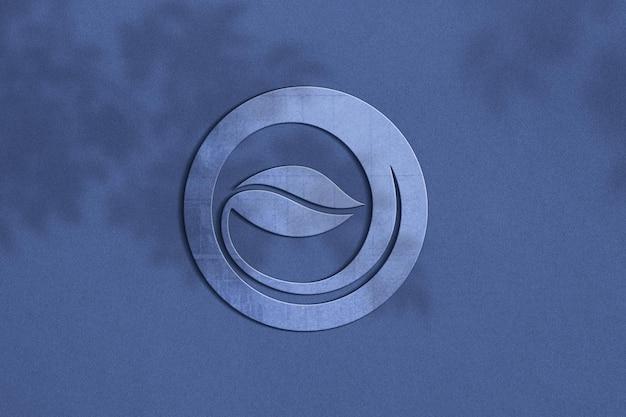 Close-up no design da maquete do logotipo