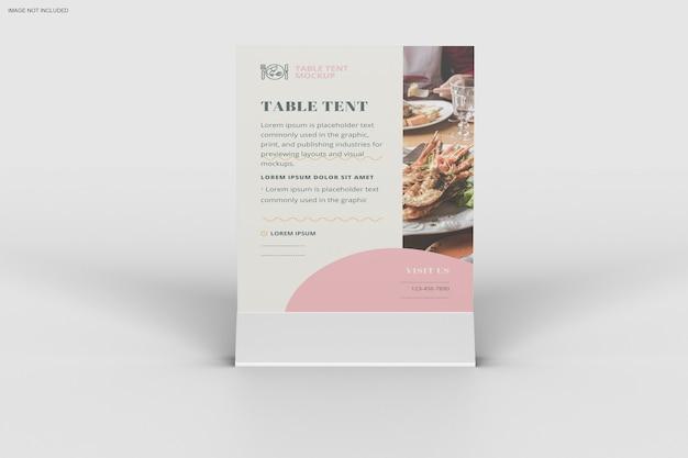 Close-up no design de maquete de barraca de mesa