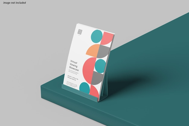 Close-up no design de maquete de pôster de panfleto
