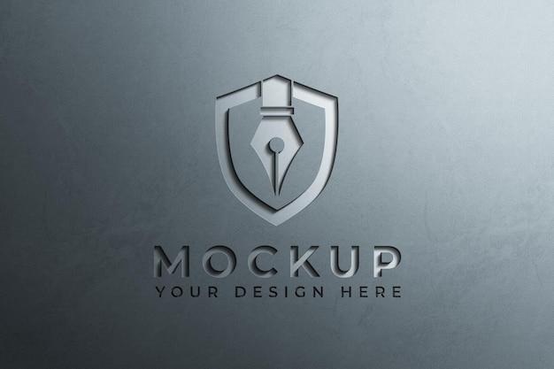 Close-up no design do logotipo da empresa