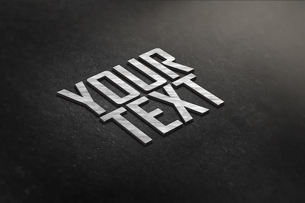 Close-up no logotipo e maquete de texto
