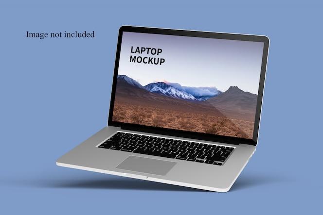 Close-up no modelo de laptop flutuante