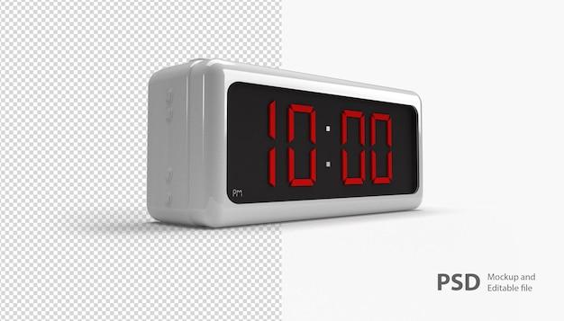 Close-up no relógio digital isolado