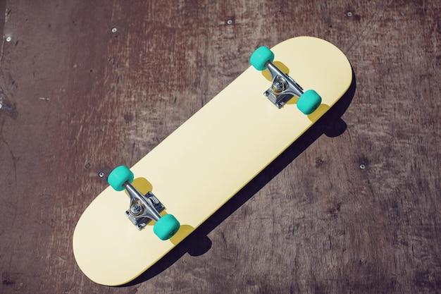 Close-up no skate maquete