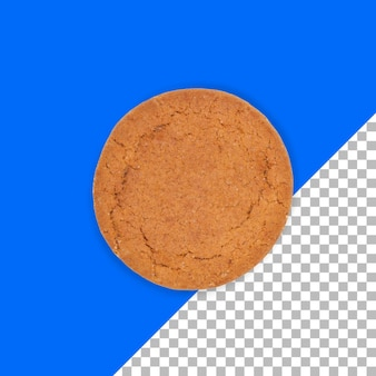 Close-up vista de biscoito real isolado