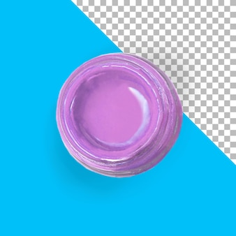 Close-up vista pintura roxa isolada
