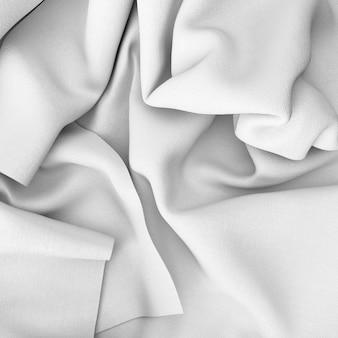 Closeup de lençóis brancos amassados
