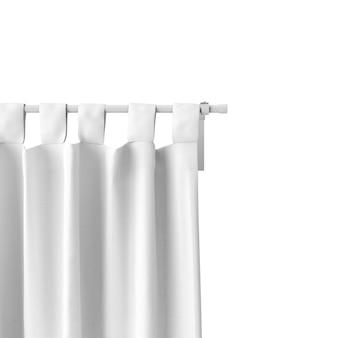 Closeup de maquete de cortina branca