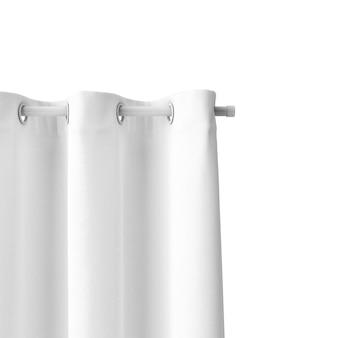 Closeup de maquete de cortina de banho