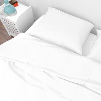Closeup de travesseiro de cama