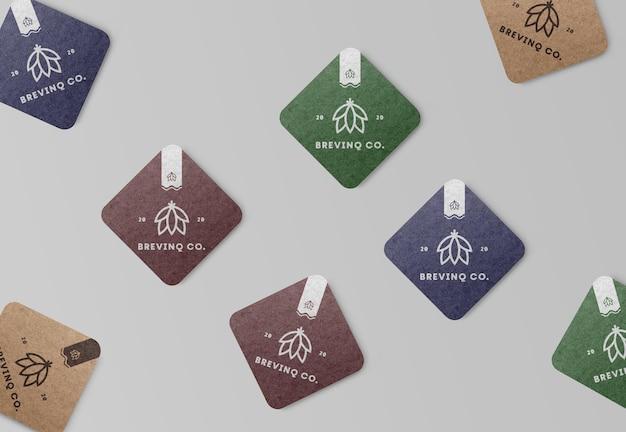 Coaster mockups renderização isolada