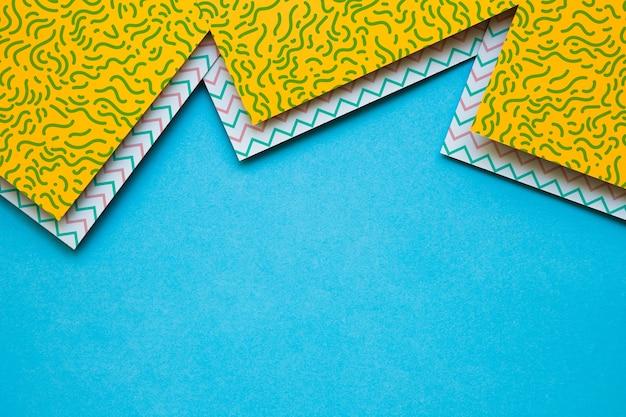 Cobertura de maquete de capa geométrica