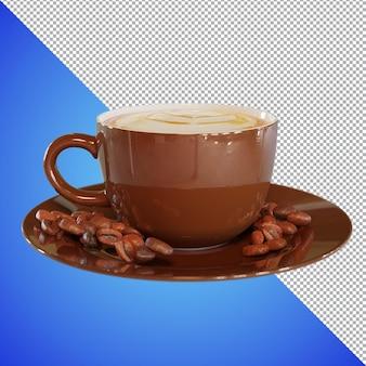 Coffee 3d render para visualização da imagem