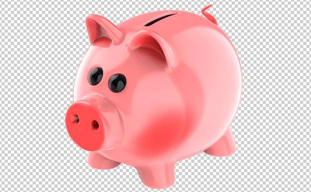 Cofrinho de porco rosa fofo