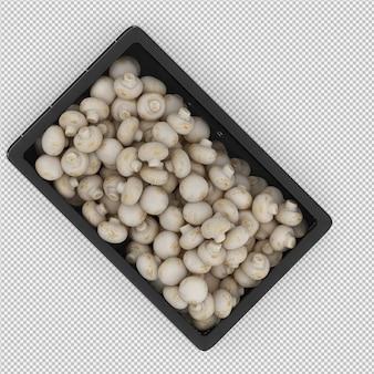 Cogumelos isométricos em uma cesta