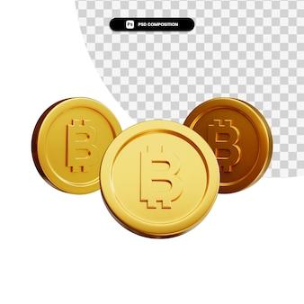 Coin 3d visual para composição isolada Psd Premium