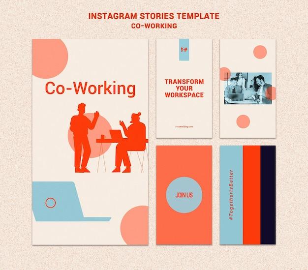 Colaborar em histórias de mídia social